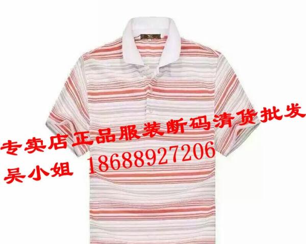 专卖店短袖T-恤断码尾货批发,运动服装库存尾货批发