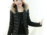 2014新款女棉衣 冬装女款棉羽绒外套 韩版时尚修身保暖貂毛棉衣