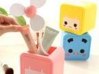 批发 张小盒多功能风扇 创意可爱迷你USB电池两用静音小电风扇