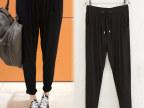 欧美外贸正品春夏季新款时尚莫代尔面料纯色宽松女式哈伦裤批发