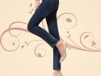 批发女装牛仔裤 显瘦小脚裤 大码裤 女式裤子双扣 一件代发8901