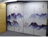 惠州多功能厅中式贴画屏风隔断上门量尺