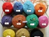 染色的工艺品及装饰和DIY手链项黄麻绳