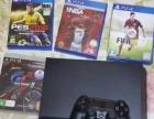 黑色索尼PS4港版游戏机,玩的少,成色新
