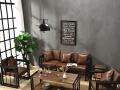 销售餐厅工业风桌椅 简易办公桌 实木铁艺 桌椅沙发