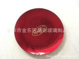 酒店托盘 创意托盘 电镀钢化玻璃盘 外贸盘 果盘定制 玻璃盘