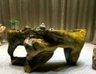 天然原木茶海根雕茶台南美花梨黄花梨奥坎巴花大板实木红木老板桌