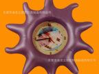 东莞黄江盛发立工厂充气飞盘 PVC吹气飞碟玩具 发光带声音飞盘