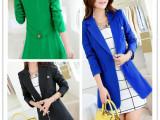 明星同款2014秋装新款韩版女装风衣外套中长长袖小西服