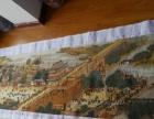 清明上河图纯手工十字绣,长6.7米宽75cm