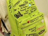 韩版时尚字母印花荧光双肩背包女包潮 休闲学生双肩包书包旅游包