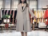 佳莉绮19年新款双面羊绒大衣 品牌折扣女装货源批发