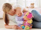 新粉色音乐狗学习狗英文红心益智早教玩具批发 公仔玩偶 毛绒玩具