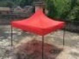玉溪元江3*4.5大精钢白色圆管帐篷420D超强防水精致丝印