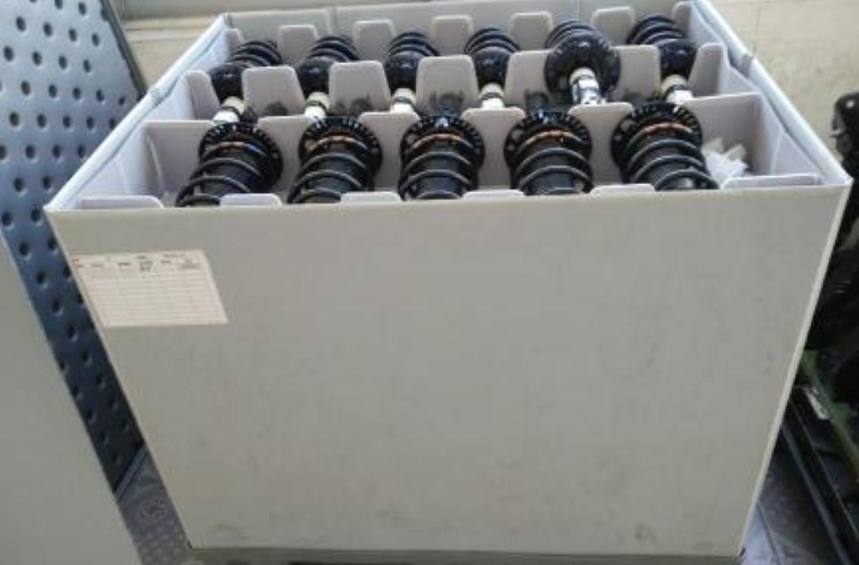 高承重塑料物流箱,中空围板箱,上下盖,可折叠使用