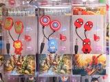 超级英雄钢铁侠超人蝙蝠侠蜘蛛侠绿灯侠 卡通耳机 内附耳塞套