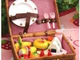 外贸玩具 草莓mother garden 粉色水果藤篮 益智玩具