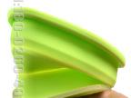 供应食品级硅胶土司模 高温硅橡胶烘焙模型盘 方形折叠硅胶饭盒