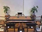 新款中式福字双色茶桌六件套(黑檀嵌刺猬紫檀)