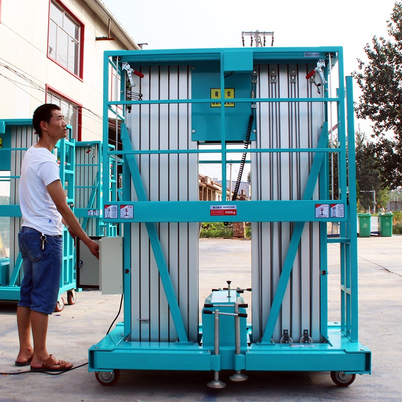 济南厂家生产双柱8米铝合金式升降机小型电动液压升降机