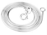 厂家批发925纯银蛇骨链 电度白金锁骨链吊坠配链粗细长短挂链
