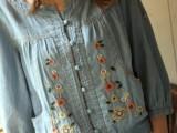日系森女系小花刺绣长袖牛仔短外套女式薄外套2014春装新款Q167