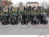 纯铜工艺品摆件 抽象装饰雕塑艺术品 贴金摆件大象