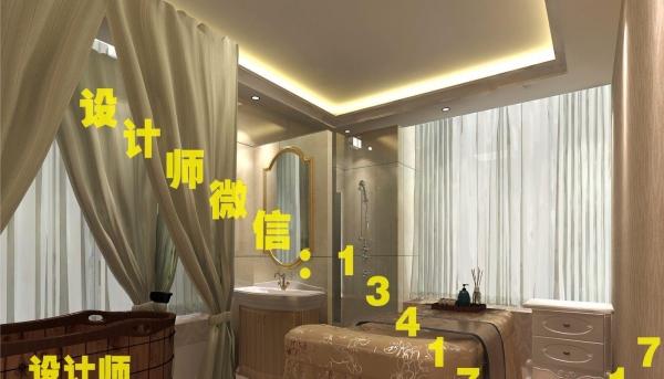 美容院设计,设计师个人帮您做美容院装修设计图效果图