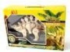 若态科技卡酷玩具拼装恐龙剑龙行走吼叫组装礼盒 D440A