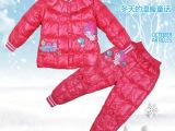 2014最新款秋冬女童装羽绒棉内胆套装 爆款儿童羽绒棉服一件代发