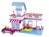 正品 斯尼E24802女孩系列拼装积木 甜蜜小屋别墅 小颗粒积木