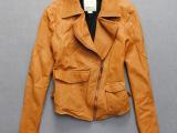 外贸日韩版精品女装女式复古做旧皮夹克外套磨砂羊皮修身真皮皮衣