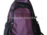 厂家批发14寸双肩包帆布电脑包男女士笔记本包户外学生包背包紫色