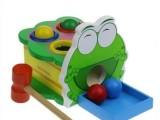 绿豆蛙敲球台 儿童敲击敲打台早教木制益智宝宝动手