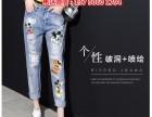 韩版牛仔裤尾货在广州哪里有工厂一手货源牛仔裤3至4元批发