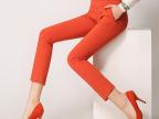 厂家直销夏季女装女式9分休闲裤大码小脚铅笔裤九分裤显瘦