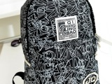 2014新款优质学院日系个性印花双肩大包男女学生书包旅行包