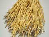 厂家直销定做各类卡扣丝光三股扭绳子,金属扣手提绳