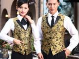 上海服装厂家生产定做夜场夜店酒吧夜总会男女服务员马甲工作制服