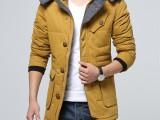 35元冬季男士连帽棉衣修身加厚大码棉服青年韩版男式棉服外套
