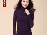 大码女装高领网纱T恤冬厚加绒春秋打底衫中长款 代理加盟一件代发