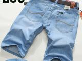 高档牛仔短裤休闲一手货源批发免费一件代发浅色男士直筒浅色薄款
