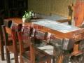 伊春市老船木家具茶桌椅子沙发茶台茶几办公桌餐桌鱼缸置物架案台