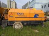 富阳出租混凝土泵车载泵拖泵