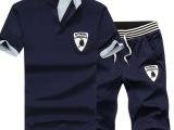 休闲短袖套装男2014夏季新款运动套装品质纯棉短款套装韩版潮
