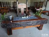 老船木大船龍骨高檔霸氣茶桌別墅茶臺可打造心目中的家具