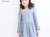 预售史比莎尔2015新款春季品牌童装女童中大童纯棉连衣裙儿童长袖