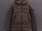 2014外贸出口韩国原单男士迪桑特纯色白鹅绒保暖防水连帽羽绒服