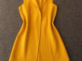 欧美高端女装外贸原单尾货代理加盟批发欧洲站 双面羊绒马甲外套