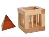 笼中取三角 取塔 取钻 进口榉木 休闲益智玩具 摆件 工艺品 礼